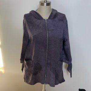 Swing Style Cotton Jacket Full Zip w/ Hood